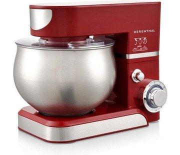 Herenthal Herenthal Keukenmachine PKM1000.472.1 - Staande mixer - 1400 W - 5.0 Liter - RVS - Rood