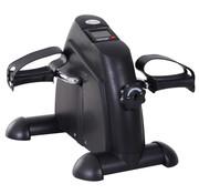 HOMdotCOM HOMdotCOM Hometrainer Mini Fiets Trap Trainer met LCD Scherm Metaal Zwart 39 x 40 x 31 cm