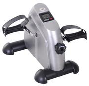 HOMdotCOM HOMdotCOM Hometrainer Mini Fiets Trap Trainer met LCD Scherm Metaal Zilver 39 x 40 x 31 cm
