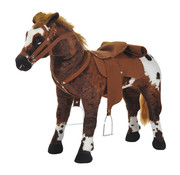 HOMdotCOM HOMdotCOM Schommelpaard pluche schommeldier paard liedjes speelgoed kinderen babyschommel