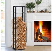 HOMdotCOM HOMdotCOM Brandhoutrek Brandhoutopslag 100 kg brandhoutstandaard Brandhouthouder staal