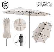 Kingsleeve Kingsleeve Dubbele Parasol - Crème - UV-bescherming 40+