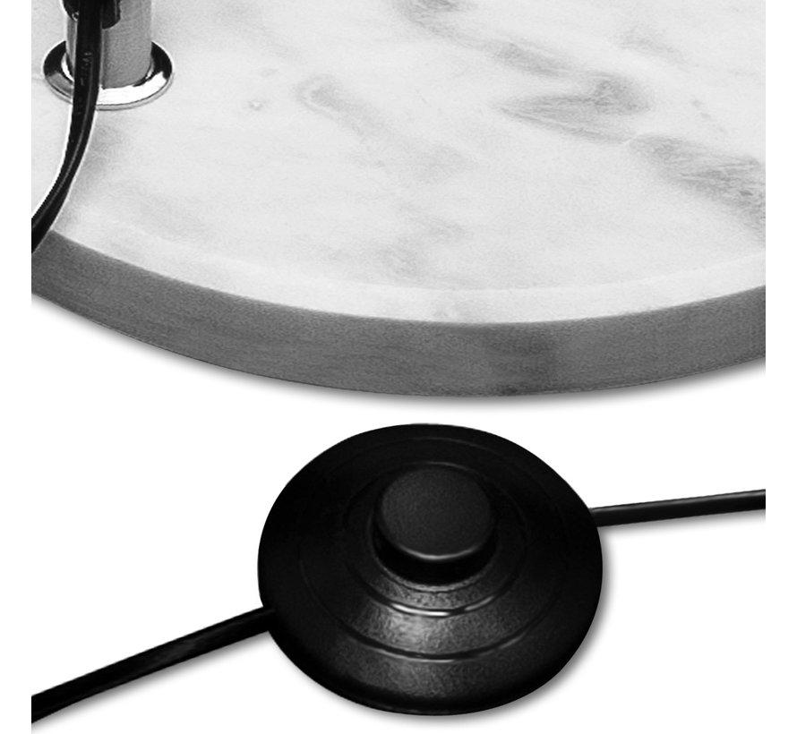 DBA Staande booglamp -220cm verstelbaar met marmeren voet