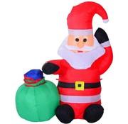 HOMdotCOM HOMdotCOM Opblaasbare Kerstman sneeuwpop kerstdecoratie ledverlichting