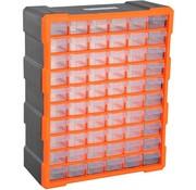 Durhand Durhand Sorteerbox 60 vakken magazijn voor kleine onderdelen onderdelendoos bewaardoos oranje