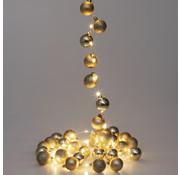 Casaria Casaria Kerstverlichting ballen 40-LED - Goud - 2m