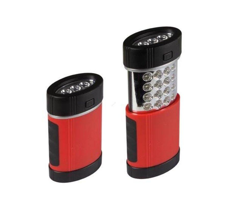 Perel Telescopische Zaklamp 3+16 LED Met Magneet