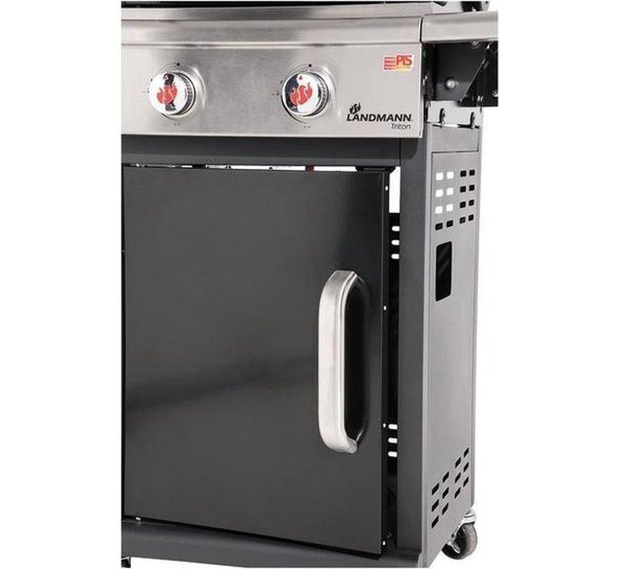 Grillchef by Landmann Triton 2.0 zwart gasbbq - Gasbarbecue - Barbecue - Grill - inklapbare werkbladen - geschikt voor 8 personen