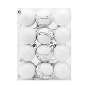 Deuba Deuba Kerstballen  - Kerstboomverlichting - Kerstboom decoratie -  Set van 24 Wit