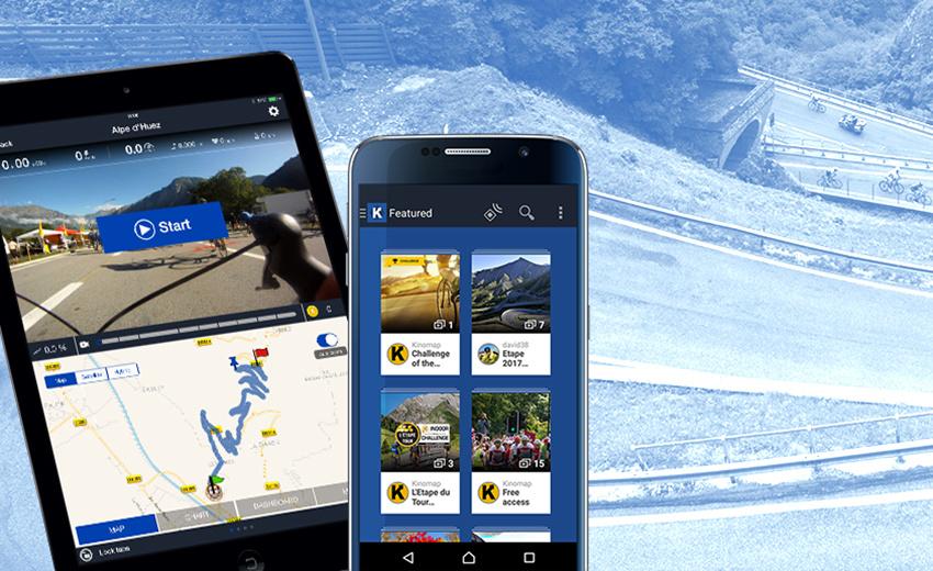 Koppel de tablet of smartphone en de Tunturi trainer