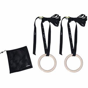 Gymnastic rings hout - Ø 23cm - inclusief riem