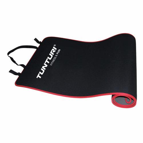 Aerobic mat- Fitnessmat - Oefenmat - 180 cm x 60 cm x 0,6 cm - Zwart