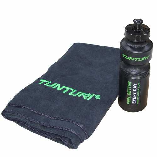 Orginele Tunturi fitness machine handdoek en bidon set
