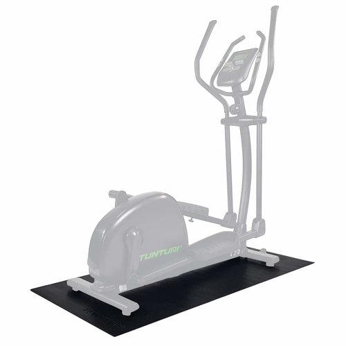 Crosstrainer mat - Vloerbeschermmat - 160 x 87 x 0,5 cm - Zwart