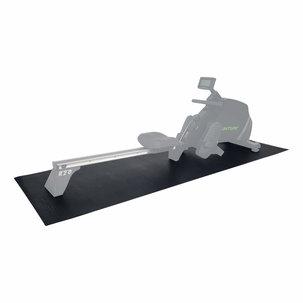 Roeitrainer mat - Vloerbeschermmat - 227 x 90 x 0,4 cm - Zwart