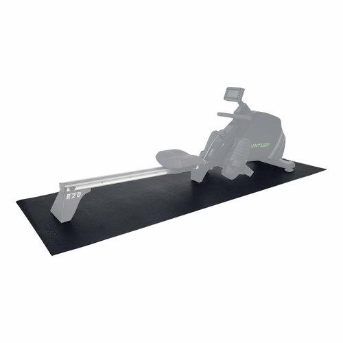 Roeitrainer mat - Vloerbeschermmat - 227 x 90 x 0,5 cm - Zwart