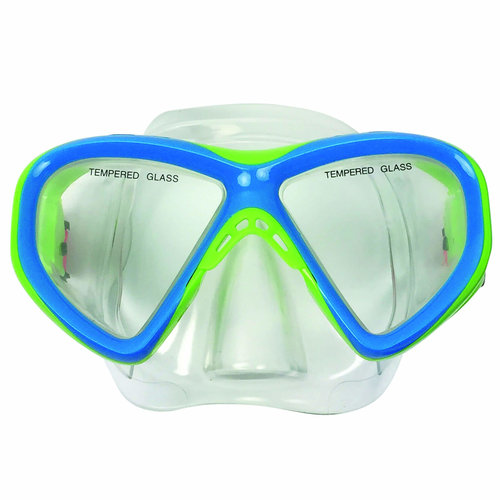 Diving Mask Junior Siliter Blue/Green