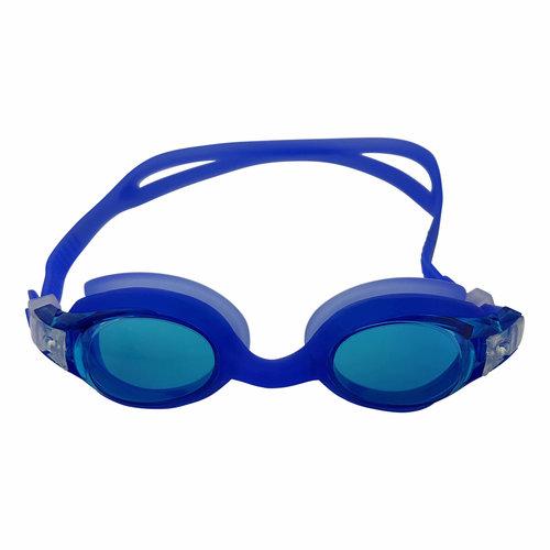 Zwembril - Junior - Siliconen - Transparant/Blauw