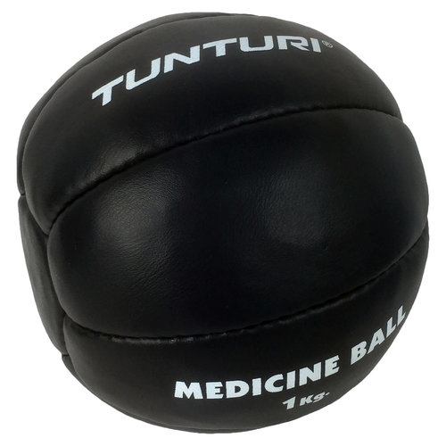 Medicine Ball Leather, Black 1kg