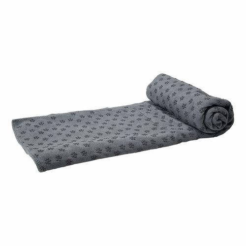 Silicone Yoga handdoek met anti slip - met draagtas - Grijs