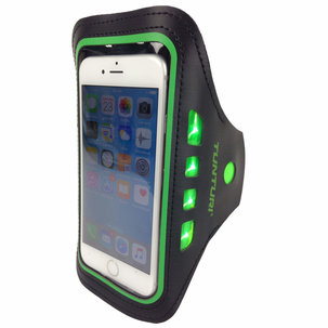 Sport Telefoonarmband - met Ledverlichting - Groen