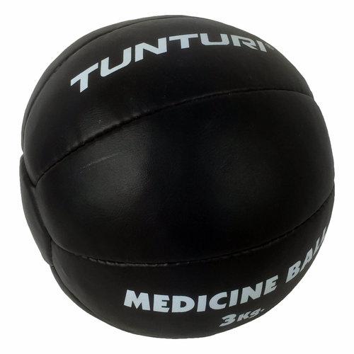 Medicine Ball Leather, Black 3kg