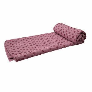 Silicone Yoga handdoek met anti slip - met draagtas - Roze