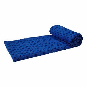 Silicone Yoga handdoek met anti slip - met draagtas - Blauw