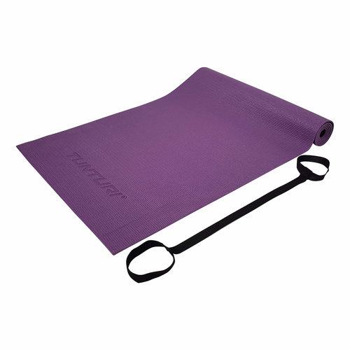 PVC Yogamat - Fitnessmat 4mm dik - Paars