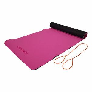 TPE Yogamat - Fitnessmat 4mm dik - Zwart/Roze