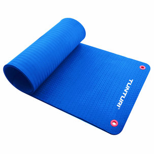 Pro Fitnessmat - Oefenmat - 180cm - Blauw