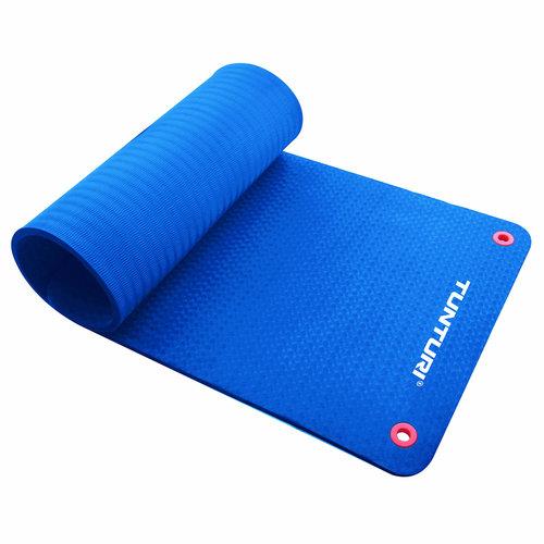 Pro Fitnessmat - Oefenmat - 140cm - Blauw