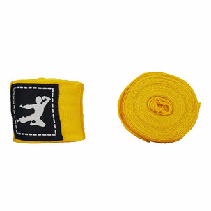 Bruce Lee Boxing Wraps 450cm, Pair - Yellow