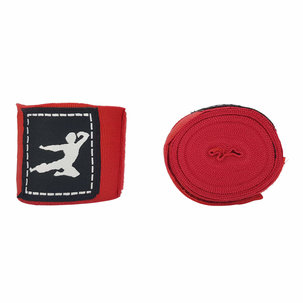 Bruce Lee Boxing Wraps 450cm, Pair - Red