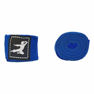 Bruce Lee Boxing Wraps 450cm, Pair - Blue