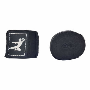 Bruce Lee Boxing Wraps 450cm, Pair - Black