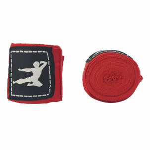 Bruce Lee Boks Bandage - Paar - 250 cm - Rood