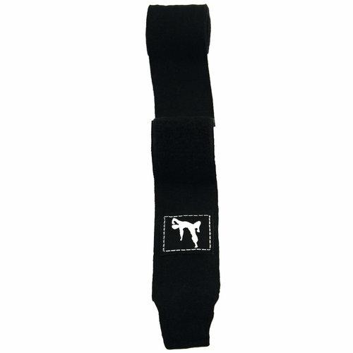 Boks Bandage - Paar - 250 cm - Zwart