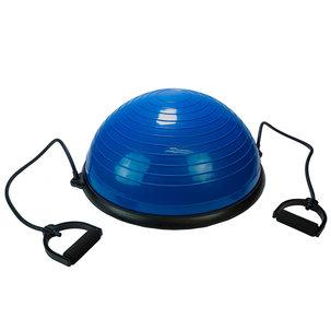 Balanstrainer Bal - Met fitness elastieken - Blauw