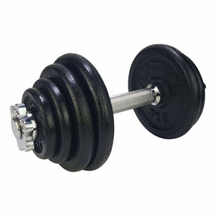 Dumbbellset, with 1 bar screw - 15 kg