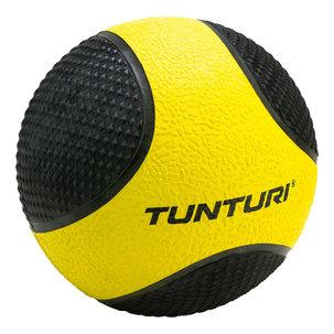 Medicine Ball - Medicijnbal - Rubber - 1kg - Geel/Zwart