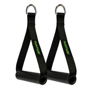 Strap handle - Cable handles met D-ring - Per paar - Zwart