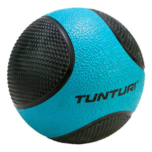 Medicine Ball - Medicijnbal - Rubber - 4kg - Blauw/Zwart