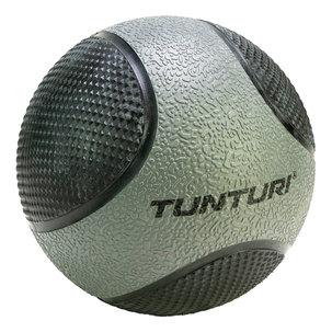 Medicine Ball - Medicijnbal - Rubber - 5kg - Grijs/Zwart