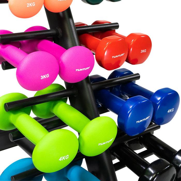 Dumbbell rack for neoprene or vinyl dumbbells - for 10 pairs