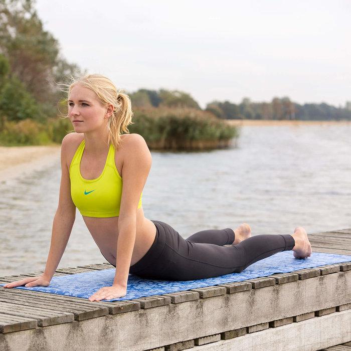 Yoga mat - Fitnessmat - Yogamat - 170 x 62 x 3 cm - Blauw