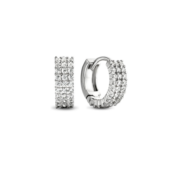 Parte di Me Ponte Vecchio Vasariano 925 sterling silver hoop earrings
