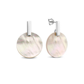 Parte di Me Amy Elsy  925 sterling silver oorhangers pearl