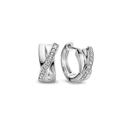 Parte di Me Ponte Vecchio Vasariano 925 sterling silver hoop earrings