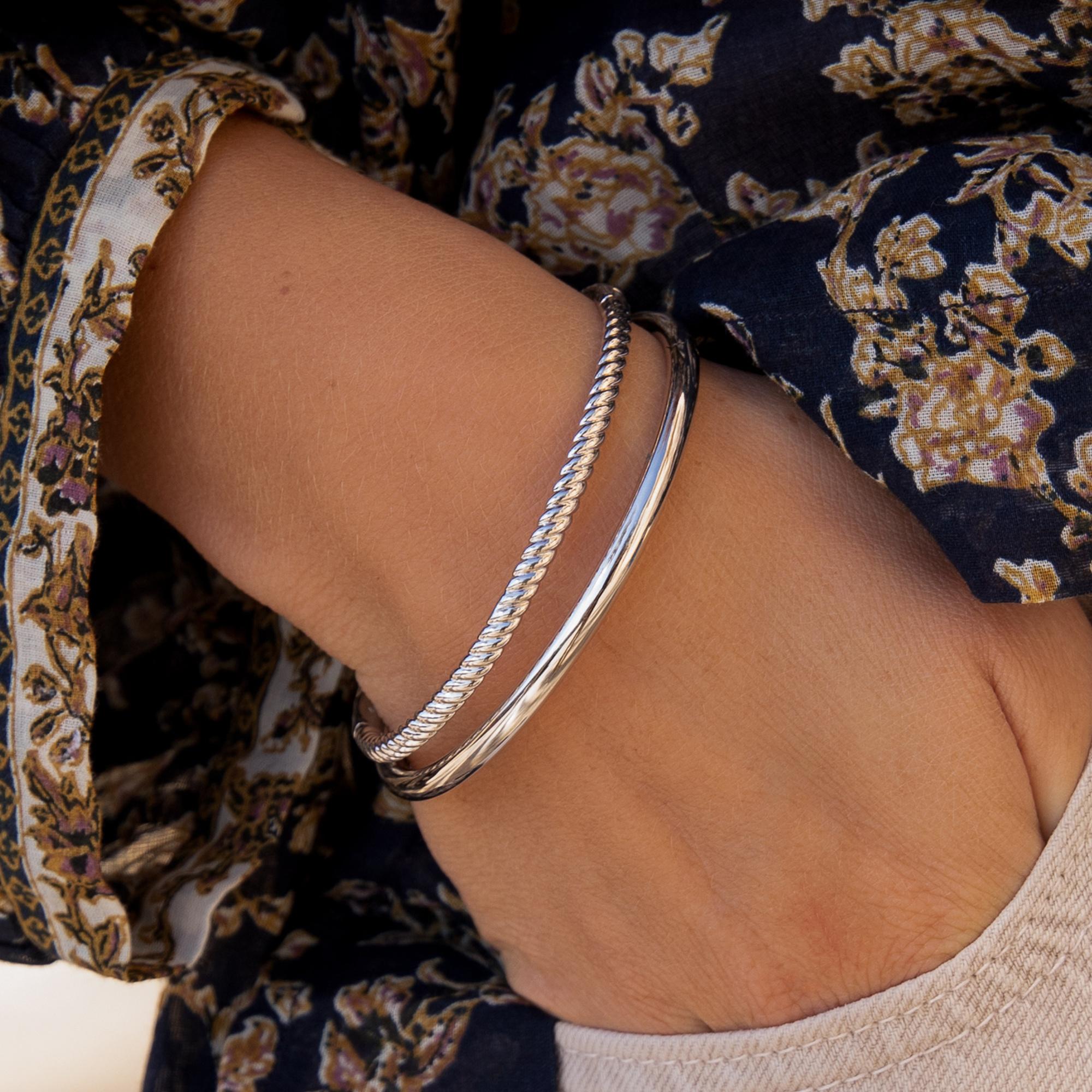 Parte di Me Bibbiena Poppi Casentino bracelet jonc en argent sterling 925